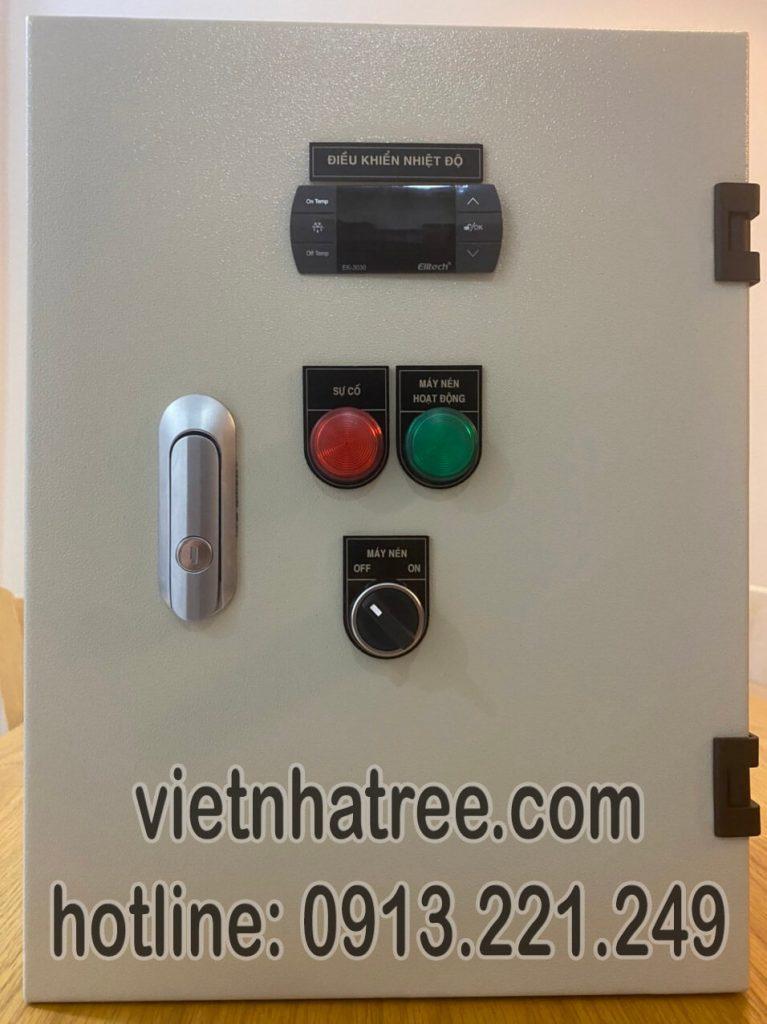 Tủ điện điều khiển kho lạnh sử dụng thiết bị Schneider, điều khiển nhiệt độ Elitech